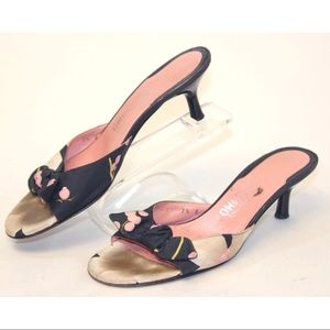 Salvatore Ferragamo Floral Print Slip-on Heels